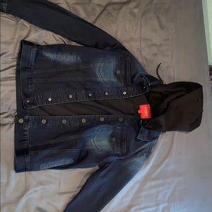 Guess denim jacket with hood